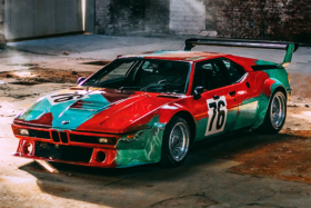 Andy Warhol's One-Of-A-Kind BMW M1 side view