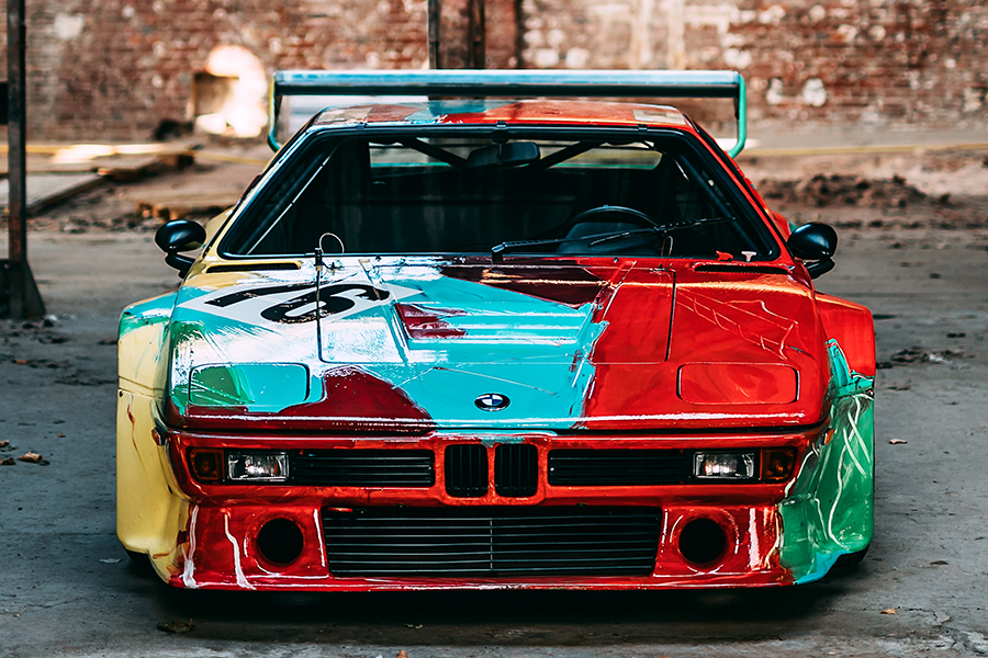 andy warhol's bmw m1 race car