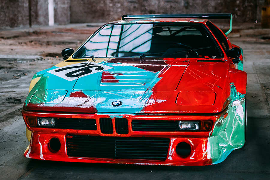 Andy Warhol's One-Of-A-Kind BMW M1 front view