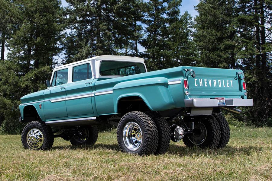 chevvy ponderosa truck back
