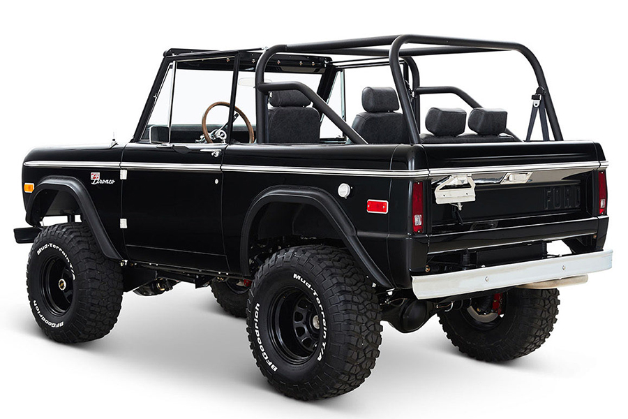 black classic ford bronco