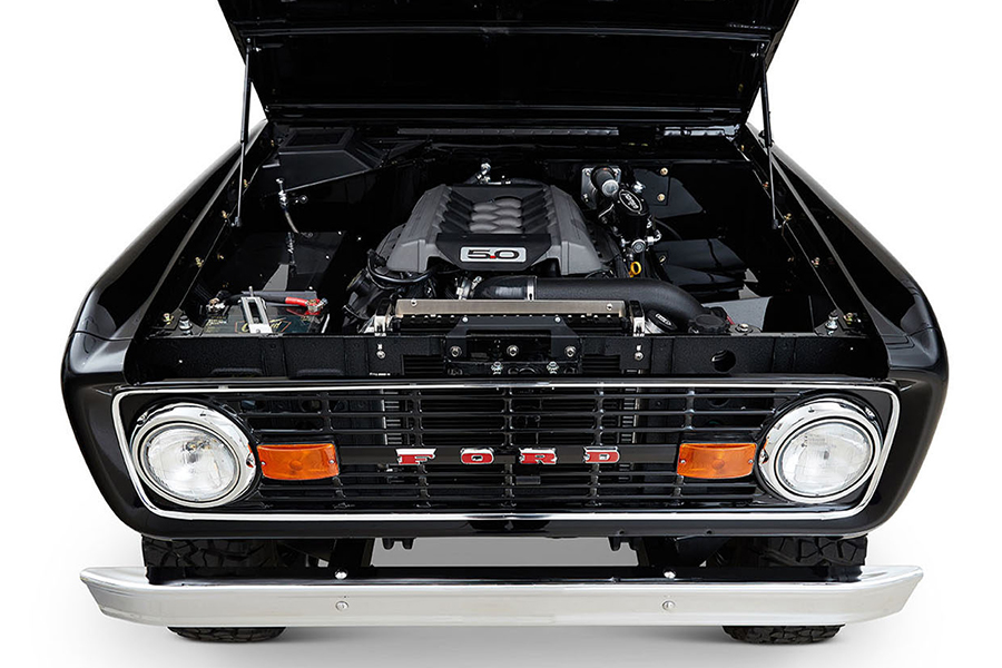 black classic ford bronco engine