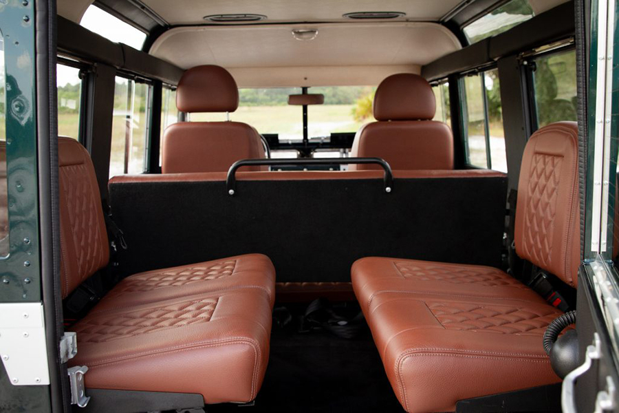 land rover series back seat
