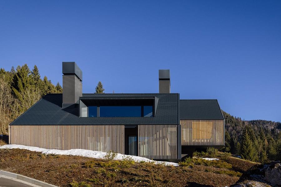 italian alpine z house structure design
