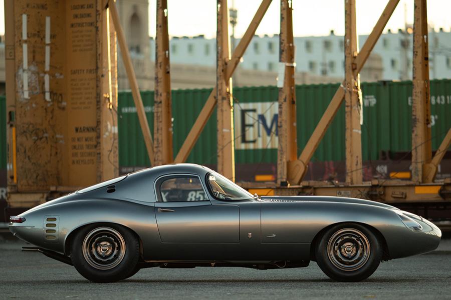 Jaguar E-TYPE park in the port