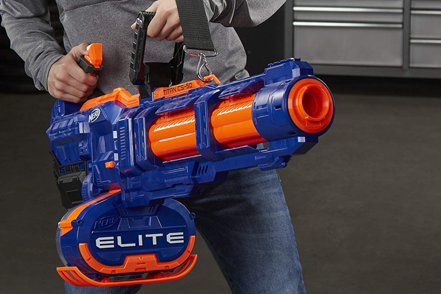 Nerf Blaster ready to fire