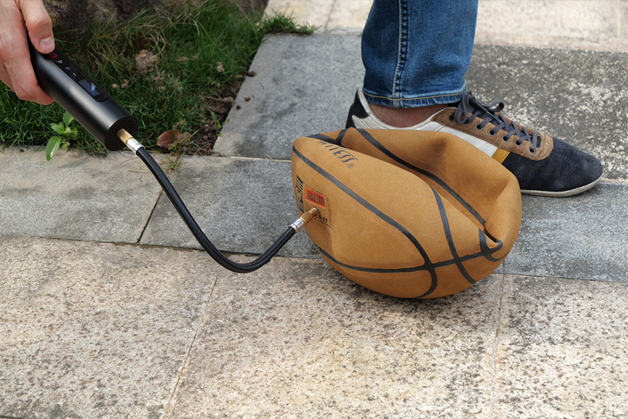 mini tire inflator for basketball