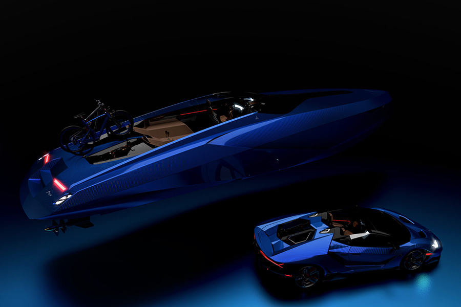 Officina Armare speadboat that can travel fast and in comfort