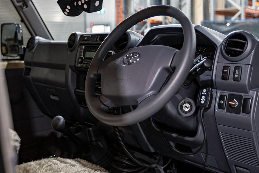 Patriot Campers Desert Ops steering wheel