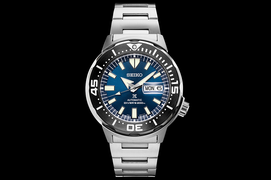silver seiko monster dive watch