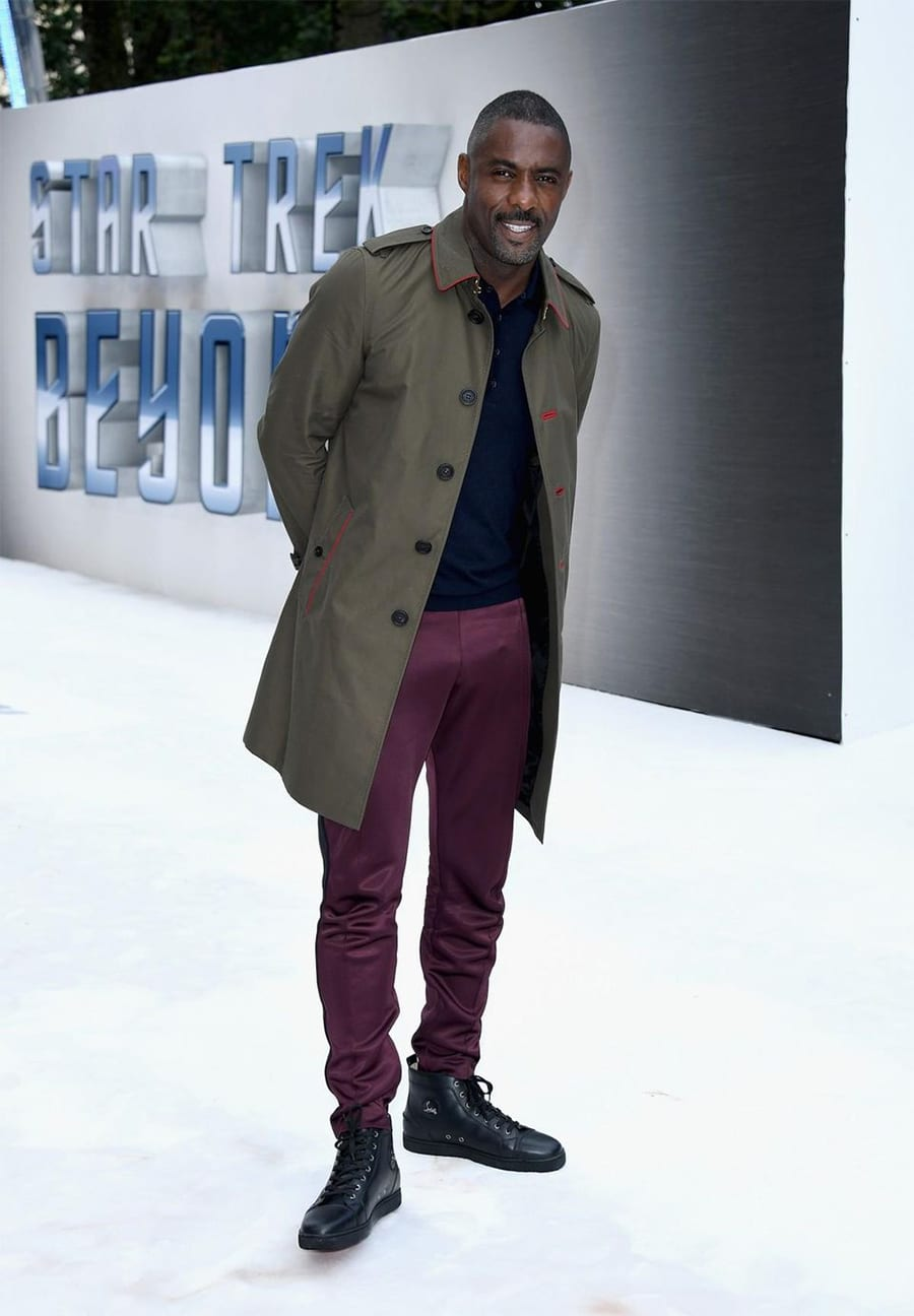Idris Elba in Gren Trench Coat