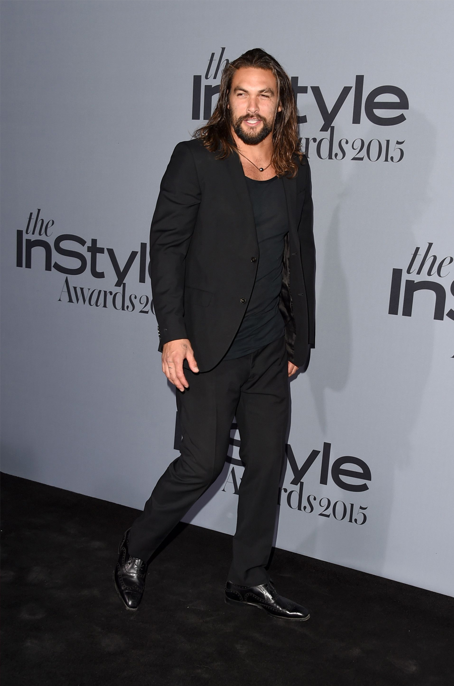 Jason Mamoa in all black attire