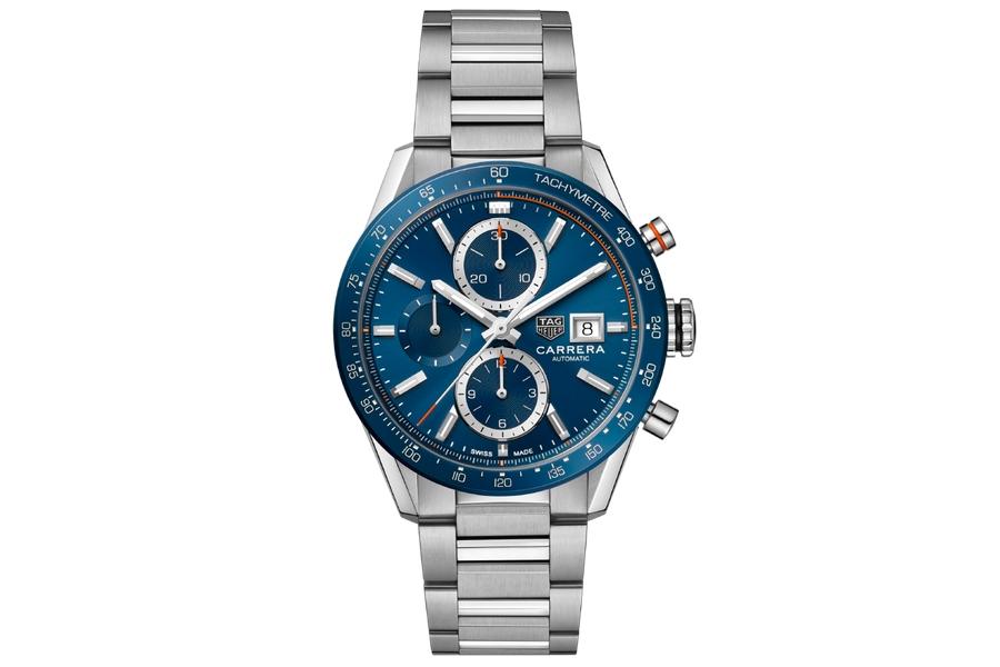 TAG Heuer Carrera Calibre 16 blue dial steel bracelet