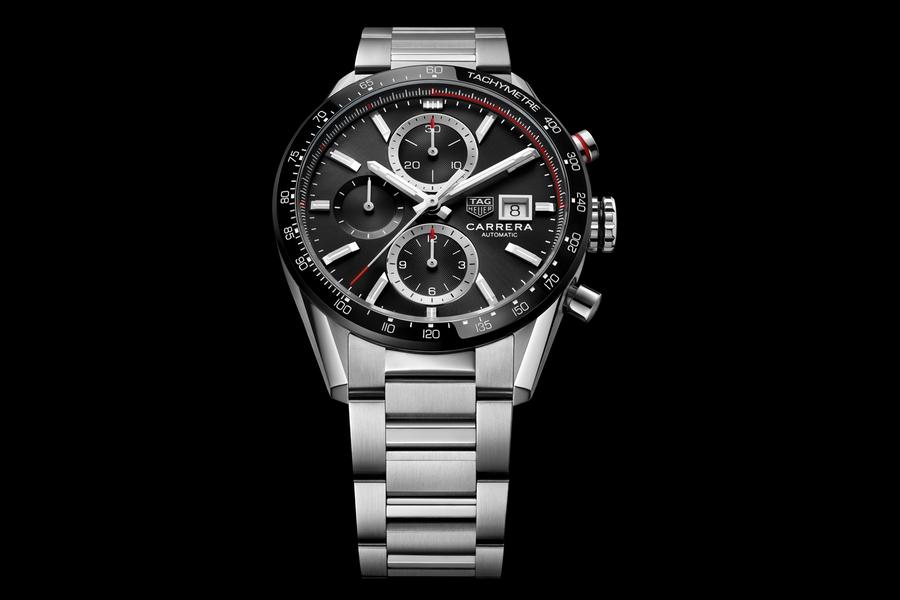 TAG Heuer Carrera Calibre 16 black dial steel bracelet