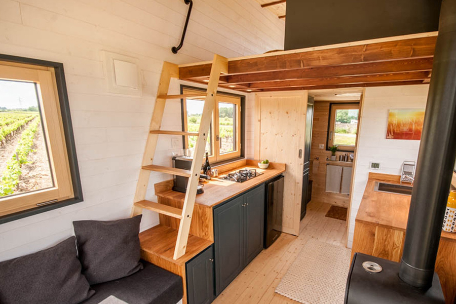 inside view of the Tiny Home for Microliving
