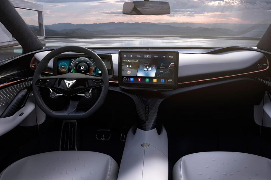 volkswagen electric suv concept dashboard