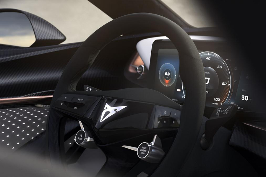 volkswagen electric suv concept steering wheel