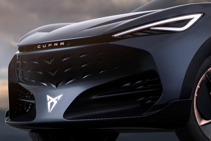 volkswagen electric suv concept headlight