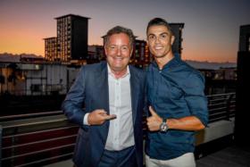 Piers Morgan and Christiano Ronaldo