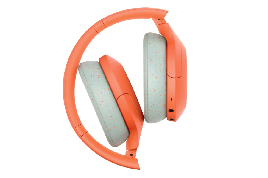 orange wireless noise cancelling headphones