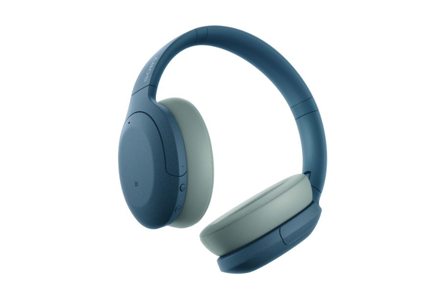 blue wireless noise cancelling headphones