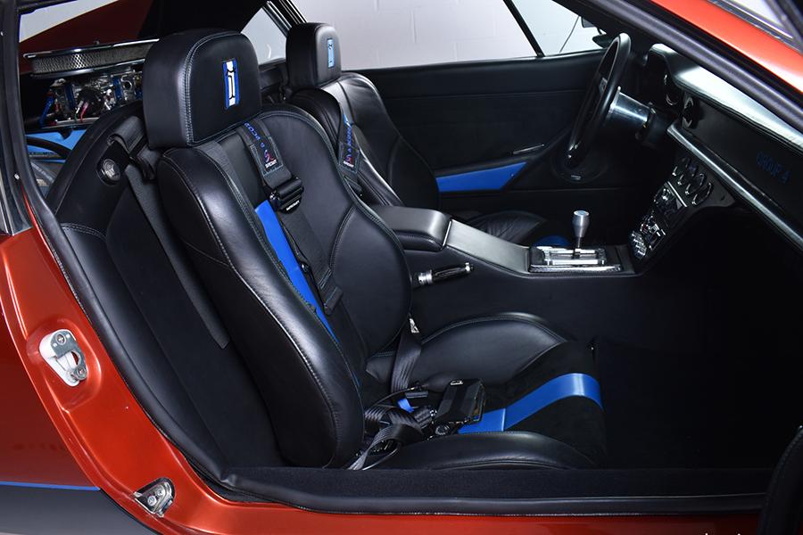 De Tomaso Pantera car seat upholstery