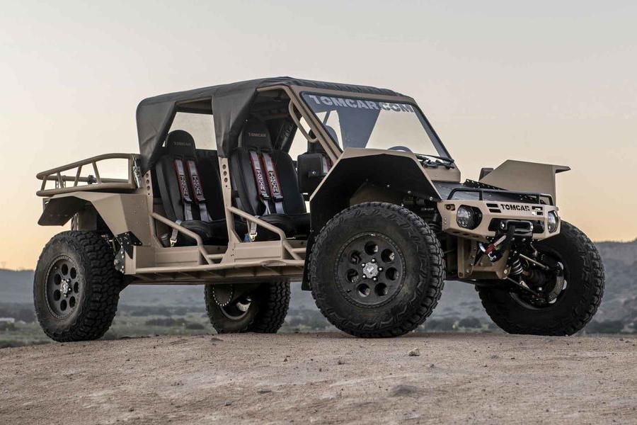 tomcar txt atv side view vehicle