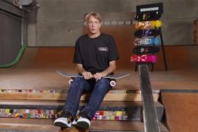 Skateboarding with Tony Hawk