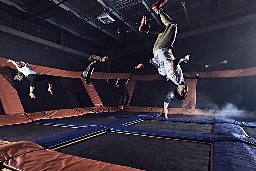 Skyzone trampolining