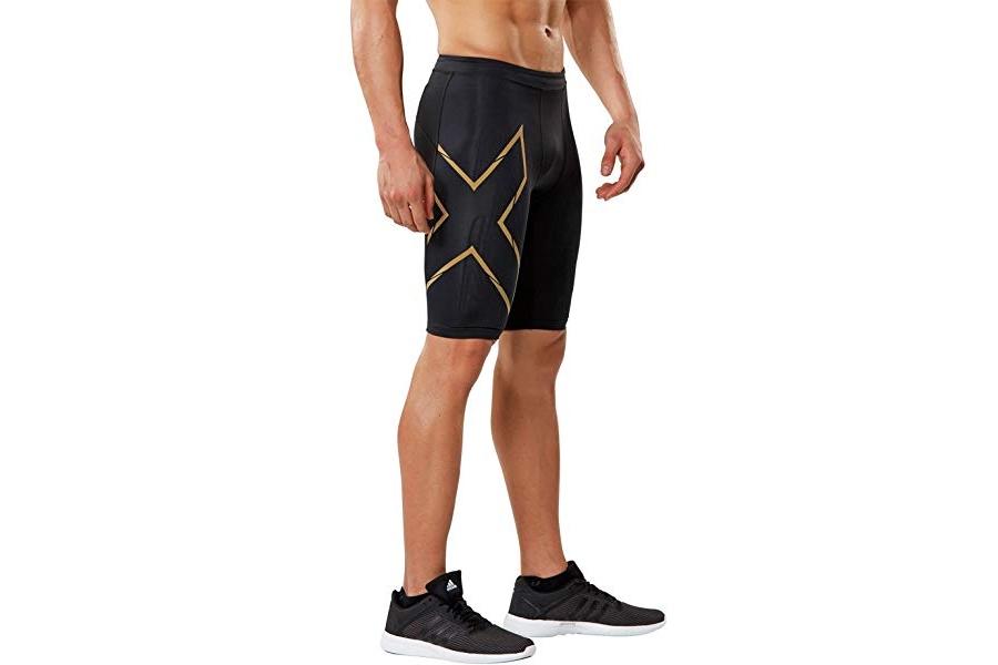2XU Mens MCS Compression Run Shorts