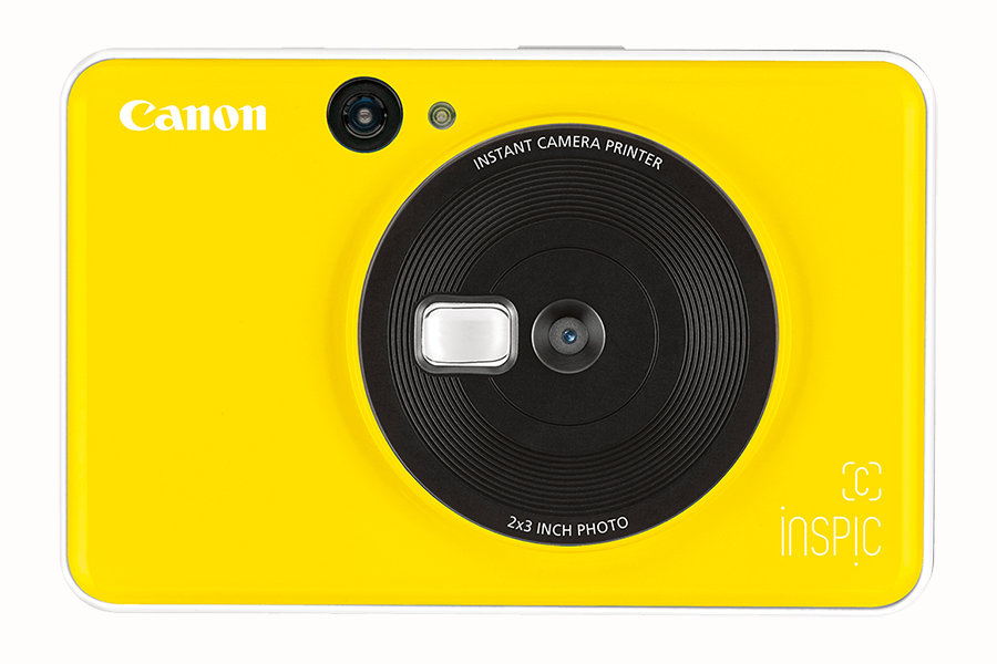canon yellow color instant camera