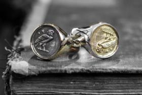 Crooked Howlet Designs mens rings