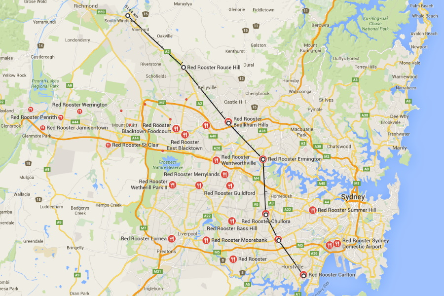 Sydney's Demographics are Defined By a Clear Fast-Food Divide