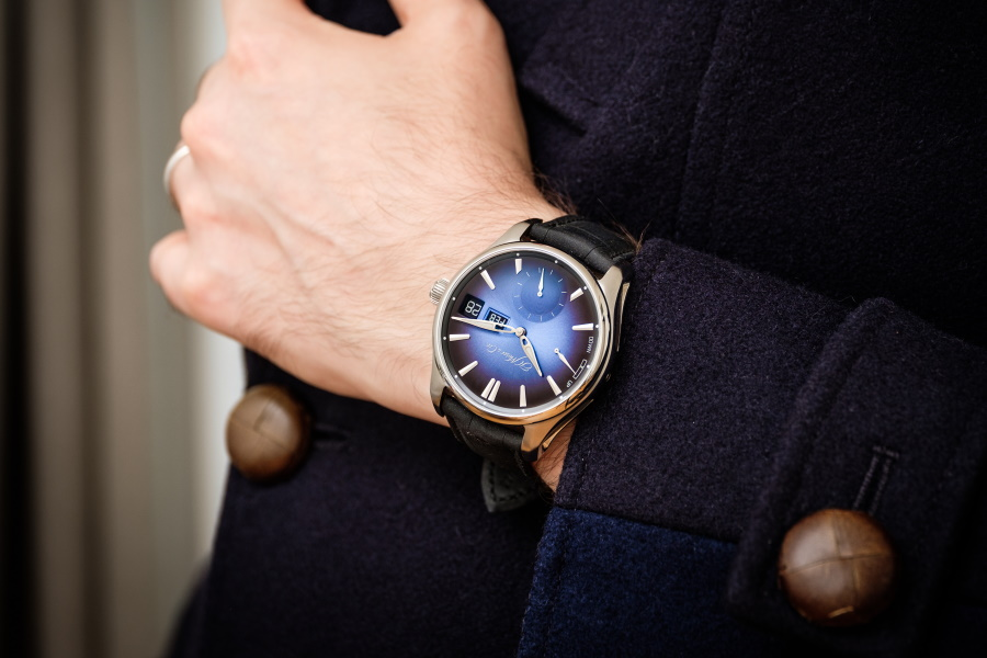 AnH. Moser & Cie watch on a wrist