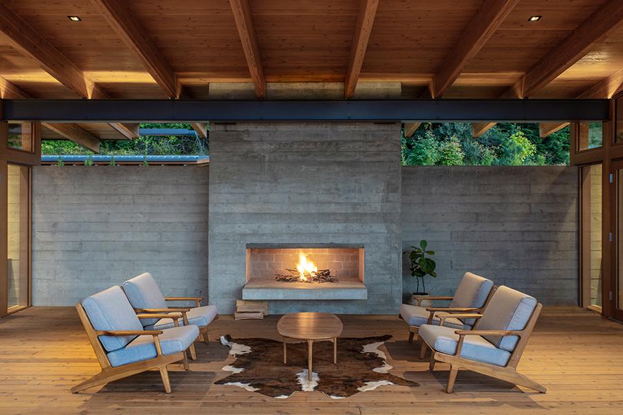 Hood River Residence sofa outside