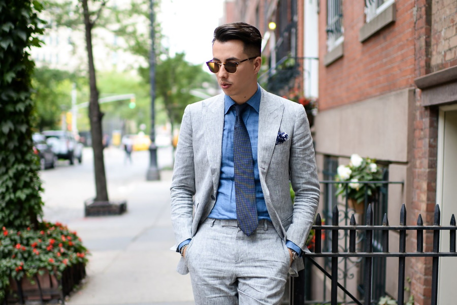 How To Wear A Grey Suit Man Of Many,Small Apartment Bedroom Decor Ideas