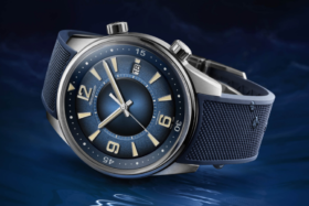 Jaeger-LeCoultre Polaris Date Limited Edition watch on its side