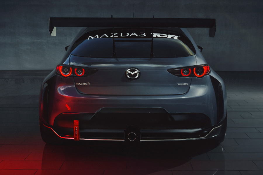 racing hatchback tail end