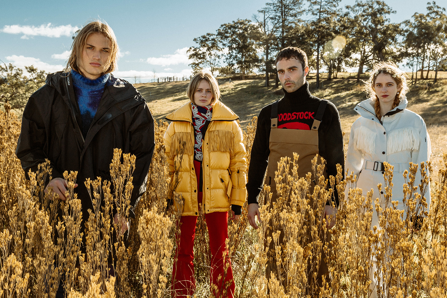 Models in 3 Moncler Grenoble Collection clothes