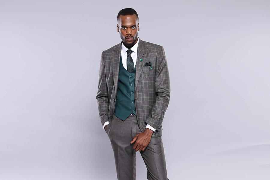 Patterned Grey Suit