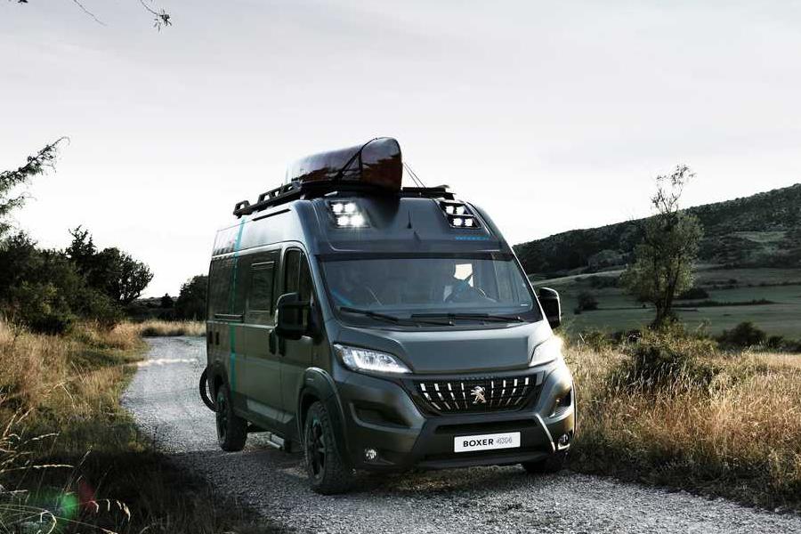 Peugeot camper van side view