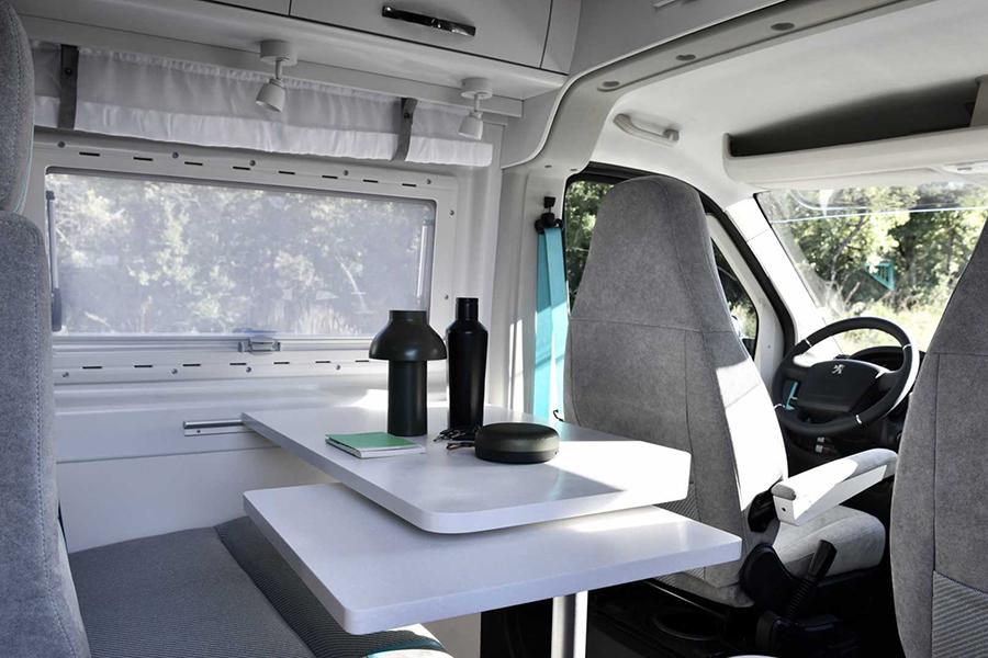 Peugeot camper van inside view
