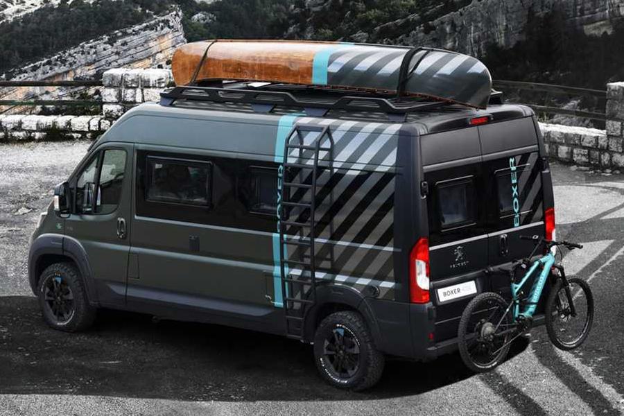 Peugeot camper van back view