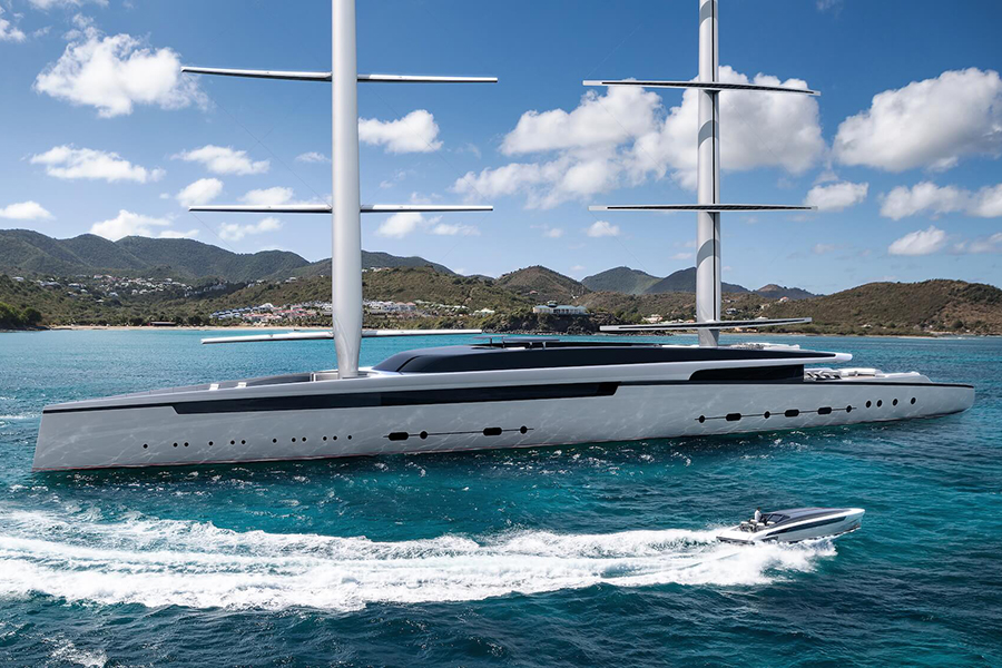 Royal Huisman Doubles Up on Lotus Concept Yacht