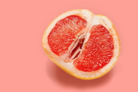 Half grapefruit