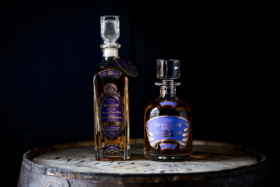 Two decanters including 21 Year Old Sullivans Cove Scotch whisky