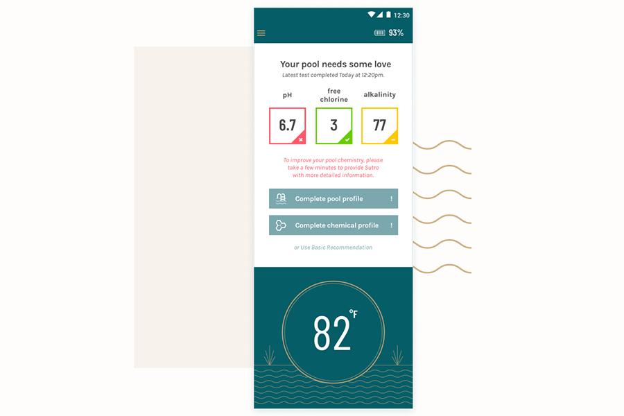 Sutro Pool monitor app