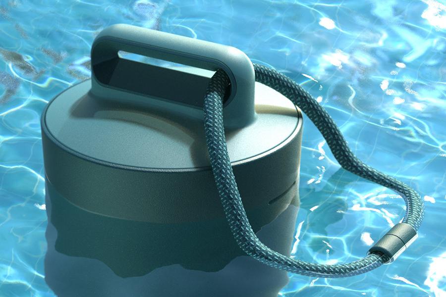 Sutro Pool monitor in pool