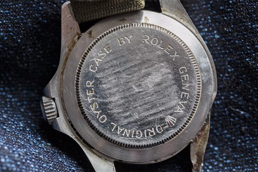 Tudor Watch back view