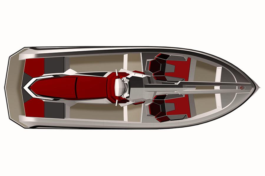 Vanqraft 16 jetski yatch top view